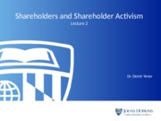 Lecture 2_Part I-Shareholders and Shareholder Activism_Revised_Jan 2016.pptx