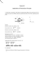 9_Momentum Principle_tutorial solution.docx