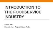 The Foodservice Industry