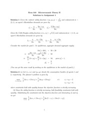 ECON 310 2014 Assignment 4 Solutions