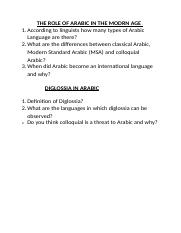 Language - Topic Questions