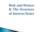 Risk_Return_and_Structure_of_Interest_Rates
