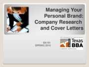 Week 4 Company Research-Cover Letters Spr2010