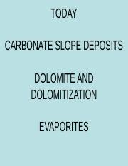 FISHER 316P_13_CARBONATE SLOPES. DOLOMITES AND EVAPORITES.ppt