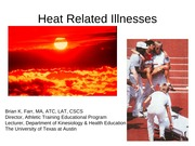 Exertional Heat Illness fall 04 blackboard