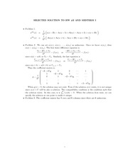 Homework B Solutions on Finite Difference Methods