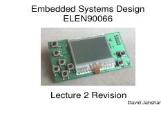 ELEN 90066 : Embedded System Design - University of Melbourne -