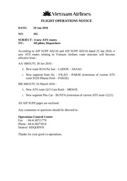 FLIGHT OPERATION NOTICE 165