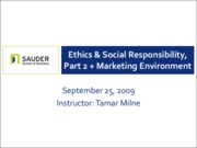 Sep 25 - Ethics and Social Responsibility, Part II