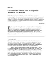 Chapter 4 Government Controls