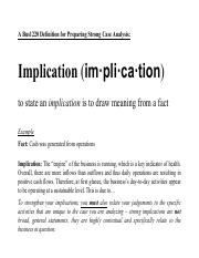 What is an Implicationy