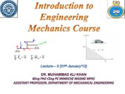 Introduction to Engineering Mechanics Course