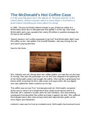 The McDonalds case article from consumer attorneys of california.docx