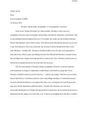 okonkwo a sympathetic character essay