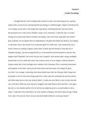 Gender Psych- Journal 4