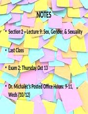 Lecture 9 - Sex and Gender