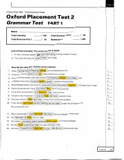 oxford placement test 2 answer key free download
