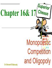 CH 16 & 17 Monopolistic comp and Oligopoly EMBA