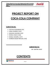 PROJECT_REPORT_ON_COCA-COLA_COMPANY_SUBM