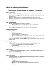 Sample 24108 Marketing Foundations Notes