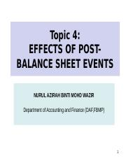 4) Effects of Post Balance Sheet.ppt