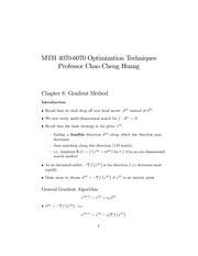 Lecture Notes on Gradient Method