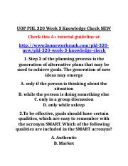 UOP PHL 320 Week 3 Knowledge Check NEW