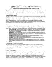 Study Skills For History Classes.pdf