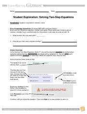 solving-equations-gizmo - Name Date Student Exploration ...