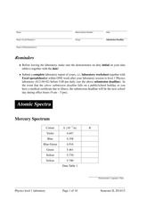 Expt-04-AtomicSpectra-Worksheet