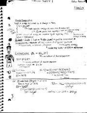 Heat and Temperature Class Notes