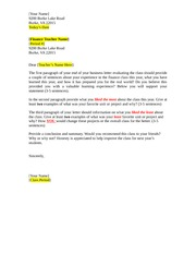 End of Year Business Letter Template