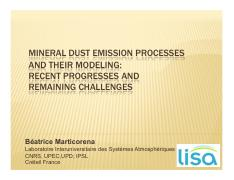 mineral dust emission process and their modeling