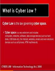 Cyber law and IT Act