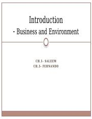 01-  Introduction- Business and its environment- 1.pptx