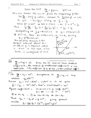 AMATH250 Assignment 3 solutions 2013