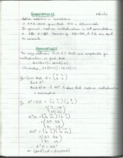 Properties of Matrices and Determinants