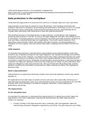 CIPD (2016) Fact sheet-Data protection in the workplace.docx