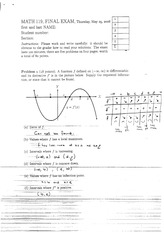 Math 119 2005-2006 Spring Final Exam Solutions