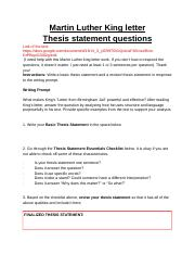 Martin luther king thesis how to write post doc resume 3f