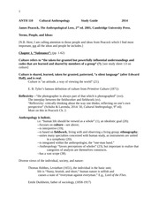 Peacock's The Anthropological Lens Chapter 1 Study Sheet