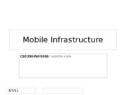 6- Mobile Infrastructure