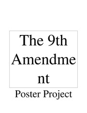Student Generated Essay: The 9th Amendment