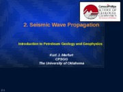 2. Seismic wave propagation