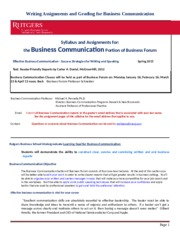 Business Communication Syllabus (2) - NB Spring 2015- BF Class(1)