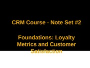 CRM Note 2_Satisfaction