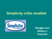 Simplicity cribs recalled