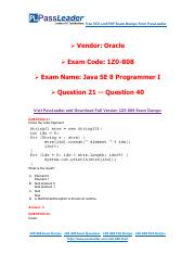 1Z0-808 Exam Dumps with PDF and VCE Download (21-40).pdf