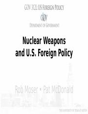 Module 14, Nuclear Weapons and USFP, SU17