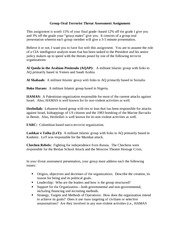 Terrorist Oral Threat Assessment Assignment 301 Fall 2013(1)